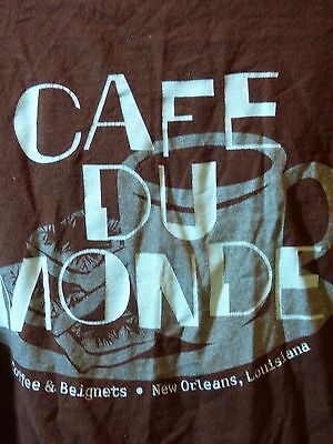 Cafe Du Monde M T Shirt Coffee and Beignets Original French Market Coffee Stand