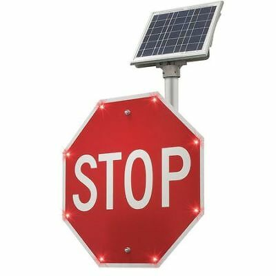 BLINKERSIGNS 2180-00235 LED Stop Sign,24 in. H,Solar G9416531