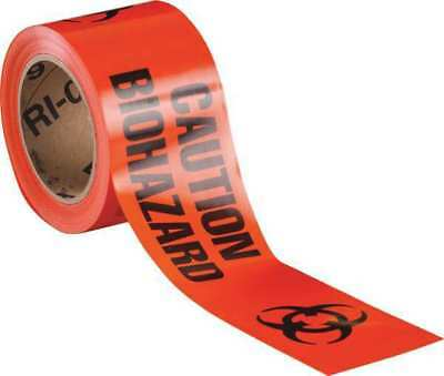 BRADY 91447 Barricade Tape,Caution Biohazard,200ft L G9404735