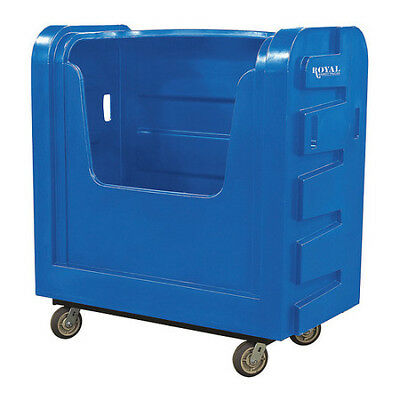 ROYAL BASKET TRUCK G36-BLX-BFA-6UNN Poly Bulk Truck,36 cu ft,Blue