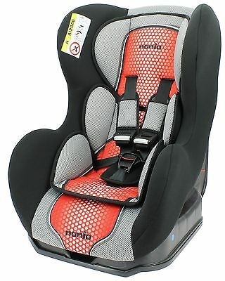 Nania Group 0+ - 1 Cosmo SP First Pop Red Booster Car Seat. From Argos on ebay
