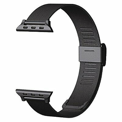 Milanese Loop Stainless Steel Strap Band Black 38mm for Apple Watch Series 2 1