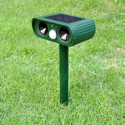 Ultrasonic Solar Power Pest Animal Repeller Garden Bat Cat Foxes Repellent