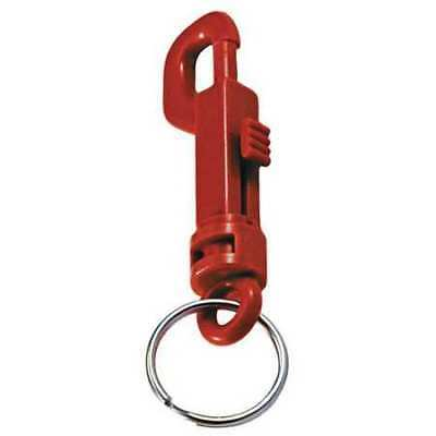 LUCKY LINE PRODUCTS 41570 Plastic Key Clip,Plastic,Red,PK25