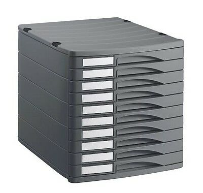 Rotho Bürobox Profiline 10 Boost Anthracite Schubladenbox Storage Box Box Office