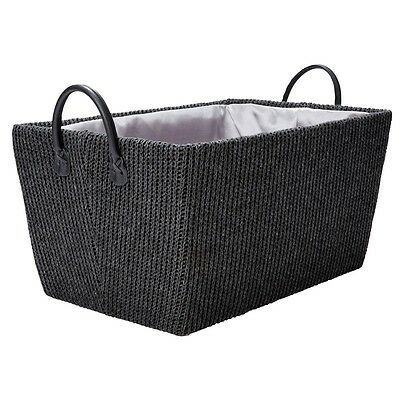 2 x Tapered Storage Basket Laundry Clothes Organiser Bathroom Hamper Washing Bin