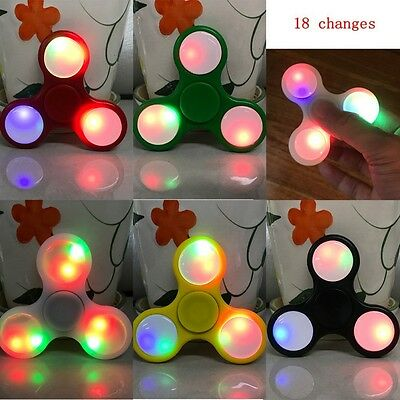 HOT Glowing Hand Finger Spinner Ceramic Ball EDC Desk Focus Toy For Kids/Adults