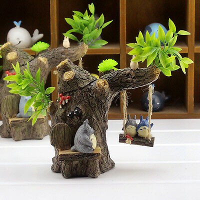 Anime Ghibli My Neighbor Totoro Tree Swing Figurine PenHolder Home Decor Gift #A