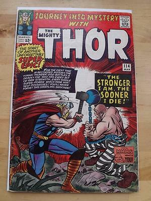 Journey Into Mystery #114 Vg/fine, Big Scans Combined Postage