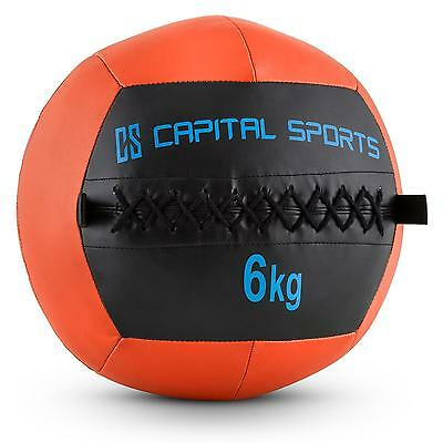 Top Capital Sports Wallba 6 Ball 6Kg Kunstleder Orange Medizinball Fitnessball