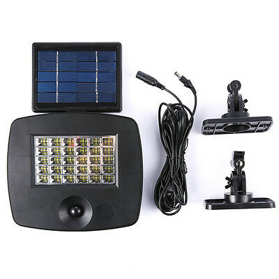 New 30 Pcs 3528 LED Solar PIR Sensor Light Bright Outdoor Garden Home Wall Lamp