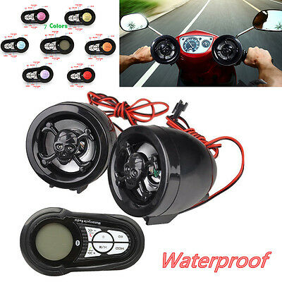 Waterproof Motorcycle Bluetooth Audio Sound System Stereo Speaker MP3 Player USB