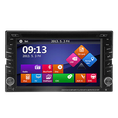 """Double 2 Din 6.2"""" In Dash Touch Screen Car DVD Player Stereo DAB Radio Bluetooth"""