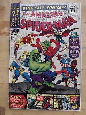 Amazing Spider-Man Annual #3 Vg Big Scans Combined Postage