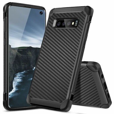 For Samsung Galaxy Note 9/8/S9/S8/Plus Carbon Fiber Shockproof TPU Armor Case