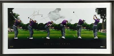 Tiger Woods Framed Signed 40x19 Art of The Swing Photo - Limited Edition of 250