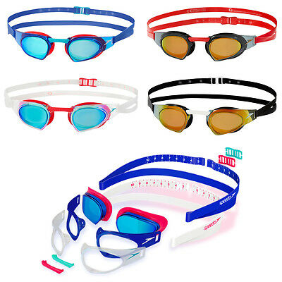 NEW Speedo Prime FastSkin Changeable Goggles - Competition Racing IQfit Goggle