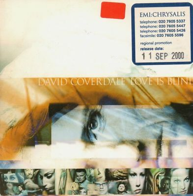 David Coverdale(Promo CD Single)Love Is Blind-EMI-CDEMDJ574-UK-2000-VG