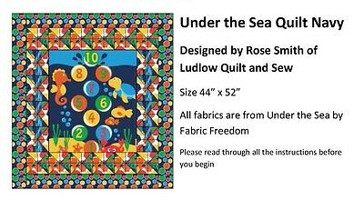 Quilt kit Under the Sea Navy