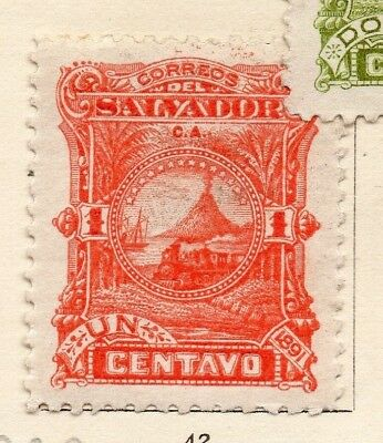 Salvador 1891 Early Issue Fine Mint Hinged 1c. 152562
