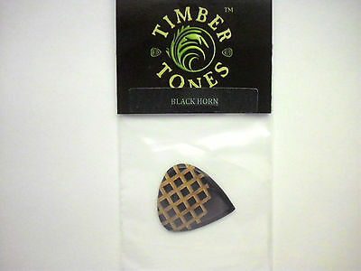 Timber Tones Grip Tones Mini Plektron Black Horn Plektrum