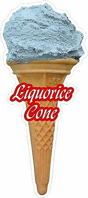 Soft Scoop Liquorice Ice Cream Cone Sticker Large