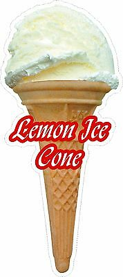 Soft Scoop Lemon Ice Ice Cream Cone Sticker Large