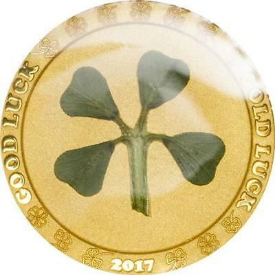 Palau 2017 $1 Ounce of Luck Four-leaf clover 1g Proof Gold Coin