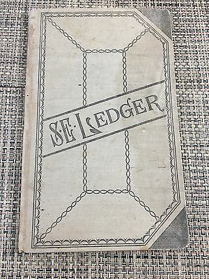 Antique 1900's Account Ledger Book BY S. E. ~ENTRIES FROM MRS COOPERS RANCH