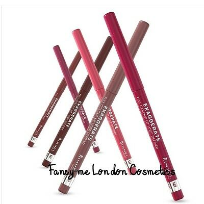 RIMMEL EXAGGERATE/ LASTING FINISH Full Colour Twist-Up Lip Liner Pencil NEW