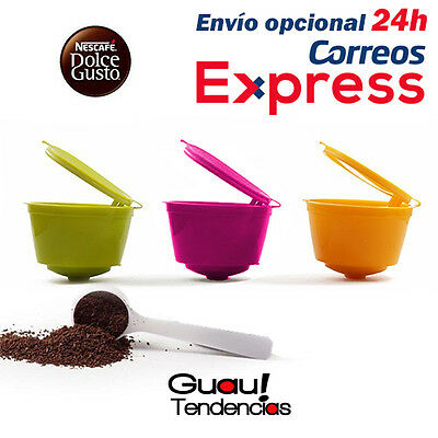 Capsulas Cafe Recargables Colores Dolce Gusto Rellenables Capsules Ricaricabili