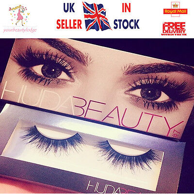 ❤️Huda Beauty False eyelashes Natural Fibres Lashes 16 Styles to choose ❤️