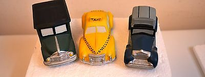 """Dept 56 The Heritage Village Collection """"Automobiles"""" Set of 3 ~ # 5964-1 MIB"""