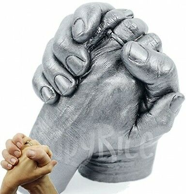 Adult 3D Handprint Hands Cast Life Casting Kit, Pewter - Wedding Anniversary -