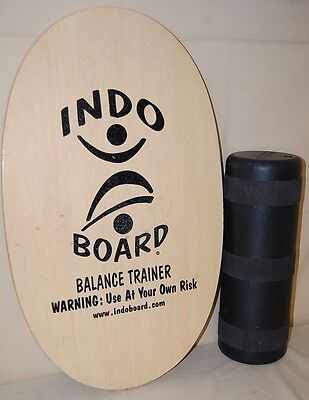 Indo Board Original Balance Trainer Natural Wood With Roller Excellent Condition