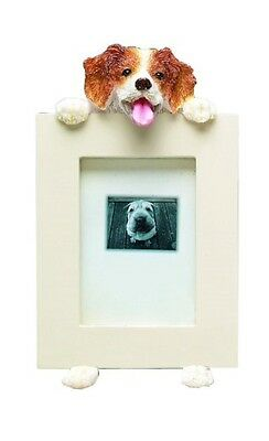 NIB! E&S Imports PETS Brittany Spaniel Picture Frame Mother's Day Gift Dog Lover
