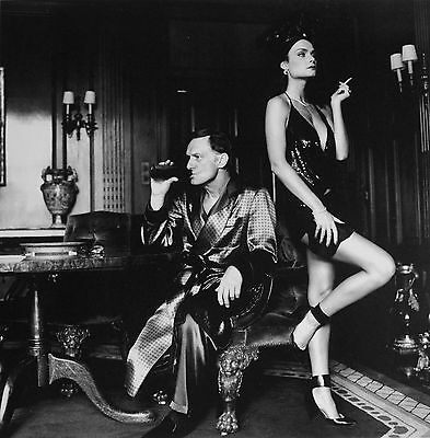 Helmut Newton Sumo Photo 50x70 Hugh Hefner & Carrie Leigh 1984 Florida Panther