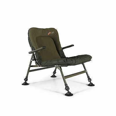 Cyprinus Fishing Arm Chair Light Weight Memory Foam Carp Coarse with arms