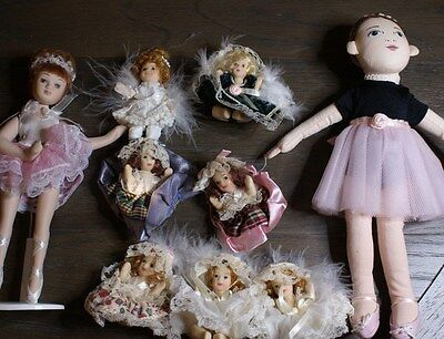 Lot of (10) dolls First Ballerina, Porceline Ballerina, Minature Porcelines
