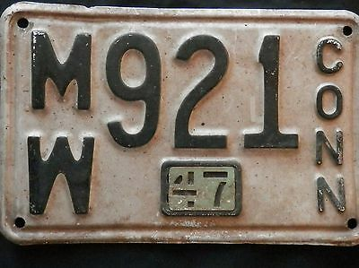 1947 Connecticut License Plate  MW921