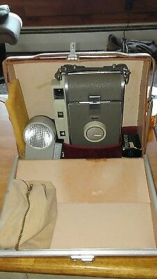 Vintage Polaroid Land Camera 800 w/Original Case, Flash, with case and Extras
