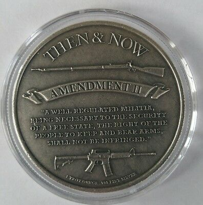 RARE 2010 $50 SECOND AMENDMENT LIBERTY GUN DOLLAR 1 oz .999 Silver Round Coin