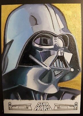 2017 Topps Star Wars 40th Anniversary Darth Vader Sketch Kevin Graham