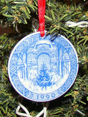 Royal Copenhagen, Christmas at Tivoli (1990) Porcelain Xmas Ornament