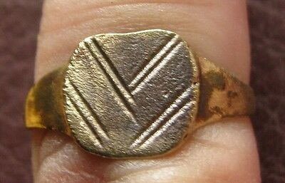 Ancient Artifact > Roman Bronze Finger Ring SZ: 8 1/2 US 18.50mm 14770 DR