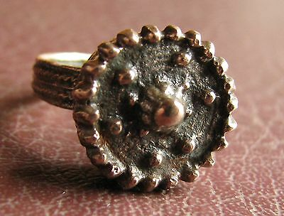 Ancient Artifact > 19th Century Bronze Finger Ring SZ: 9 1/4 US 19mm 14773 DR