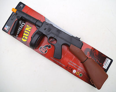 Toy Gun  Gangsters Tommy Gun Friction Powered Action Toy Rifle