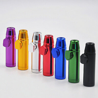 Portable Mini Aluminum Snuff Dispenser Snorter Powder Snuffer Bullet Rocket  New