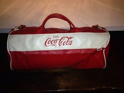 Fine Vintage Coca Cola Duffle Bag Leather By Ross Mid 1980's Classic