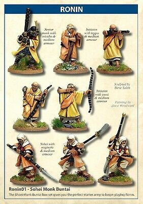 Ronin- Sohei Monk Buntai By North Star Figures 28mm Scale Miniatures